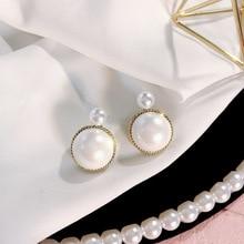 Simulation Pearl Stud Earrings for Women Round Wedding Pendant 2020 Fashion Korean Jewelry Pendientes