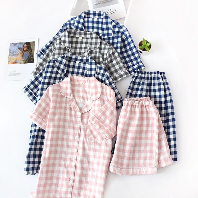 100% cotton Womens   Pajama     Set   Cotton   Pajama   Shorts   Pajama     Set   Women 1267