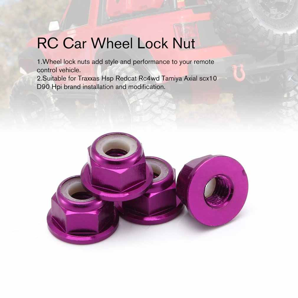 RC Car Wheel Lock Moer Aluminiumlegering Auto Sets/Kit Wiel Hardware voor RC Hobby Model Auto 1/10 Axiale SCX10 Crawler