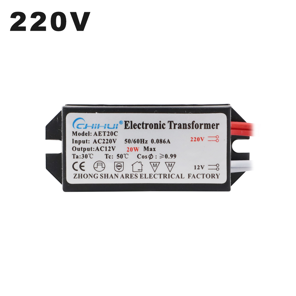 AC220V To AC12V LED Driver 20W Electronic Transformer Power Supply For AC 12V MR16 G4 LED Light BeadLamp Bulbs Or Halogen