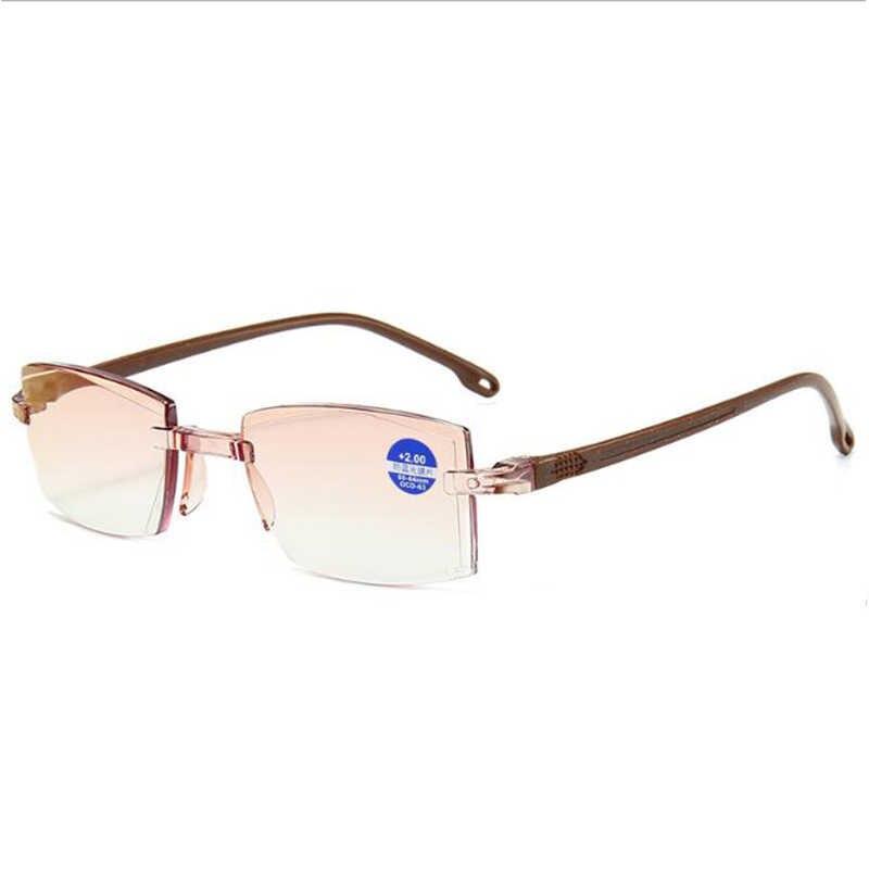 Gafas de lectura sin montura ultraligeras, antirradiación de luz azul, lector de presbicia para ordenador, gafas, kulary 1,0 a 4,0