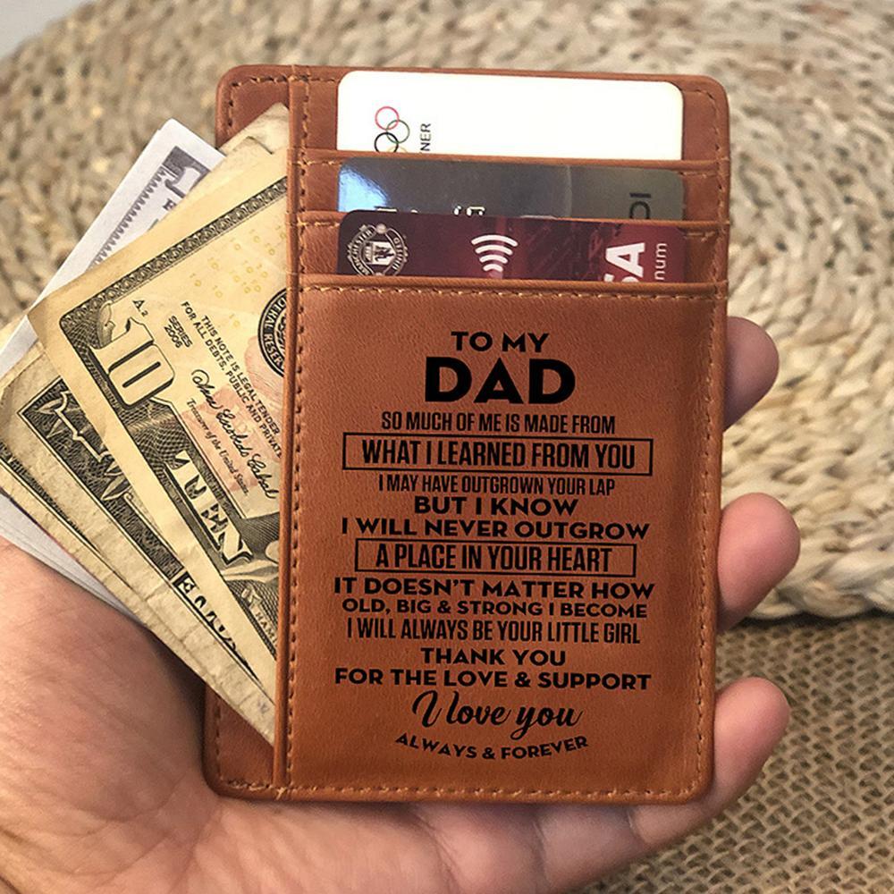 Personnalisé porte-feuille//sac à main carte insert anniversaire anniversaire cadeau fête des pères