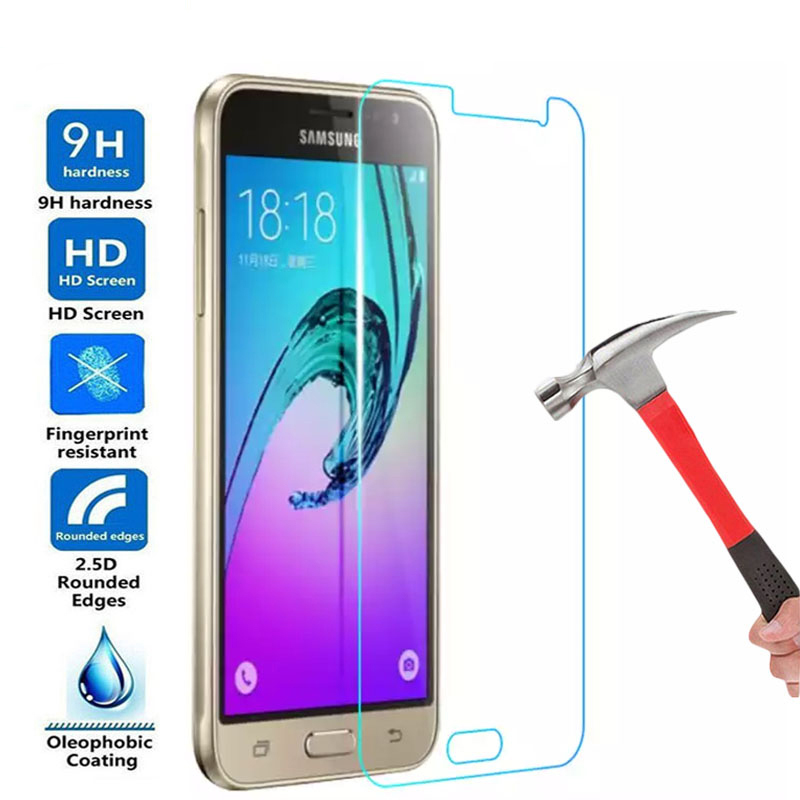 9H HD Protective Glass For Samsung <font><b>Galaxy</b></font> J3 J5 J7 A3 <font><b>A5</b></font> A7 2016 2017 A6 Plus A8 Plus <font><b>2018</b></font> Tempered <font><b>Screen</b></font> Protector Glass Film image