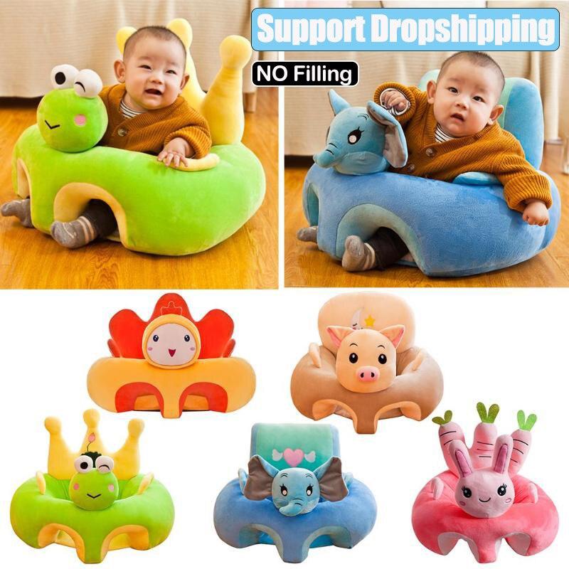 Baby Sofa Unterstützung Sitz Abdeckung Lernen Zu Sitzen Sitz Fütterung Stuhl Abdeckung Kinder Sofa Haut für Infant Kleinkind Nest Puff ohne Baumwolle