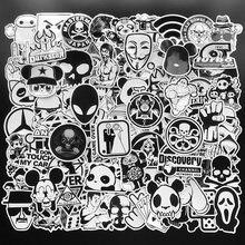 100 шт случайные черно белые наклейки s Граффити Панк jdm крутые