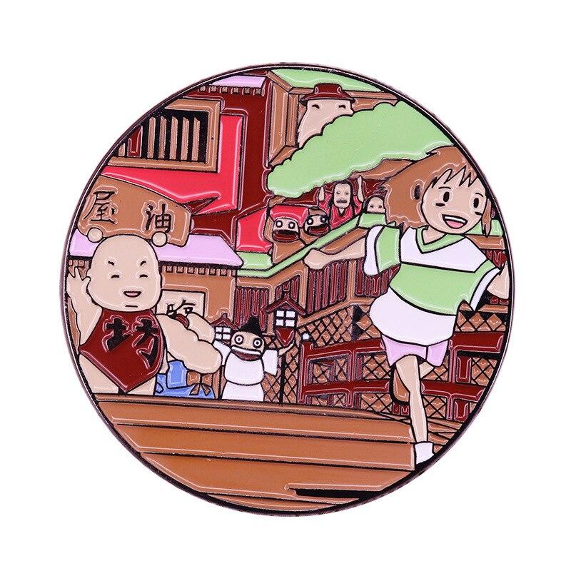 P4721 Dongmanli Anime Figuras De Metal Esmalte Pins e Broches para As Mulheres Da Moda Pin de Lapela Sacos Mochila Badge Presentes
