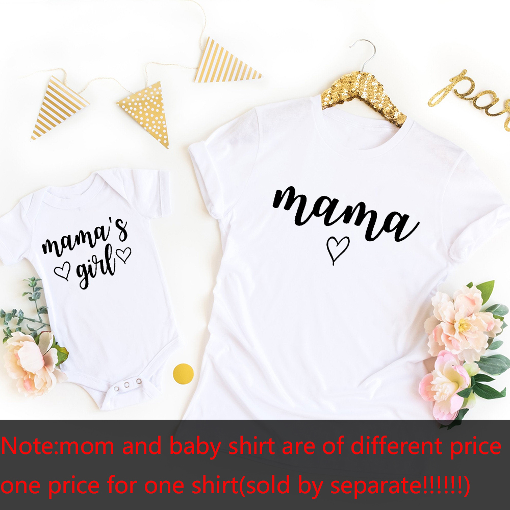 Mommy and Me Shirts Mama Mama's Girl Matching T-Shirts Mommy and Me Outfits Mother Daughter Shirts Gift for New Baby