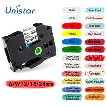 Unistar TZe-231 TZe-221 Tape Compatible With Brother PT Label Printer Ribbons tze-231 TZe-221 TZe-251 Label Maker Printer