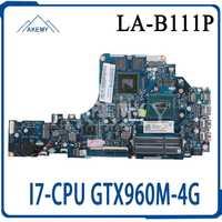 Placa base para portátil GT LA-B111P para For Lenovo Y50-70 placa base original I7-4720HQ/4710HQ GTX960M-4G
