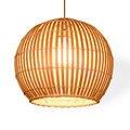 Японский подвесной светильник для отеля  бамбуковый Балконный светодиодный подвесной светильник  светильник для коридора  выставки  зала  ...