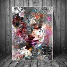 Абстрактная девушка настенные картины печать на холсте стены