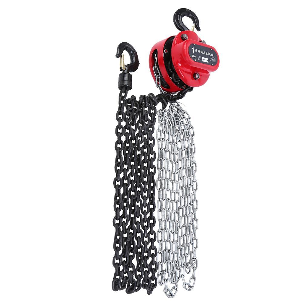 Yonntech Ratchet Pull Professional Hand Chain Hoist Pulley Hoist 1000kg 3m 1 Ton