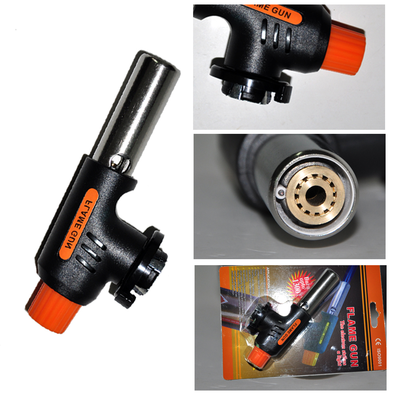 Gas Welding Torch Flamethrower Butane Burner Automatic Ignition Baking Welding BBQ Camping Outdoor Hiking Fire Flame