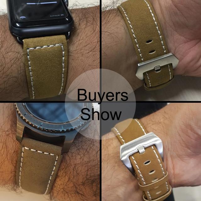 Vintage Matte Leather Watchband 3