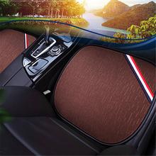 Uniwersalne pokrowce na siedzenia samochodowe Auto Protect pokrowce len poduszka na przednie siedzenie tkanina lniana pokrowce na siedzenia samochodowe wyposażenie wnętrz tanie tanio Cztery pory roku CN (pochodzenie) 52cm Pokrowce i podpory 0 3kg Podstawową Funkcją Car Seat Covers Flax Car Seat Covers