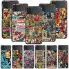 Smartphone Case For Samsung Galaxy Z Flip3 5G Z Flip 3 z flip ZF 5G Cover PC Capa Hard Funda Coque Retro Marvel Comic