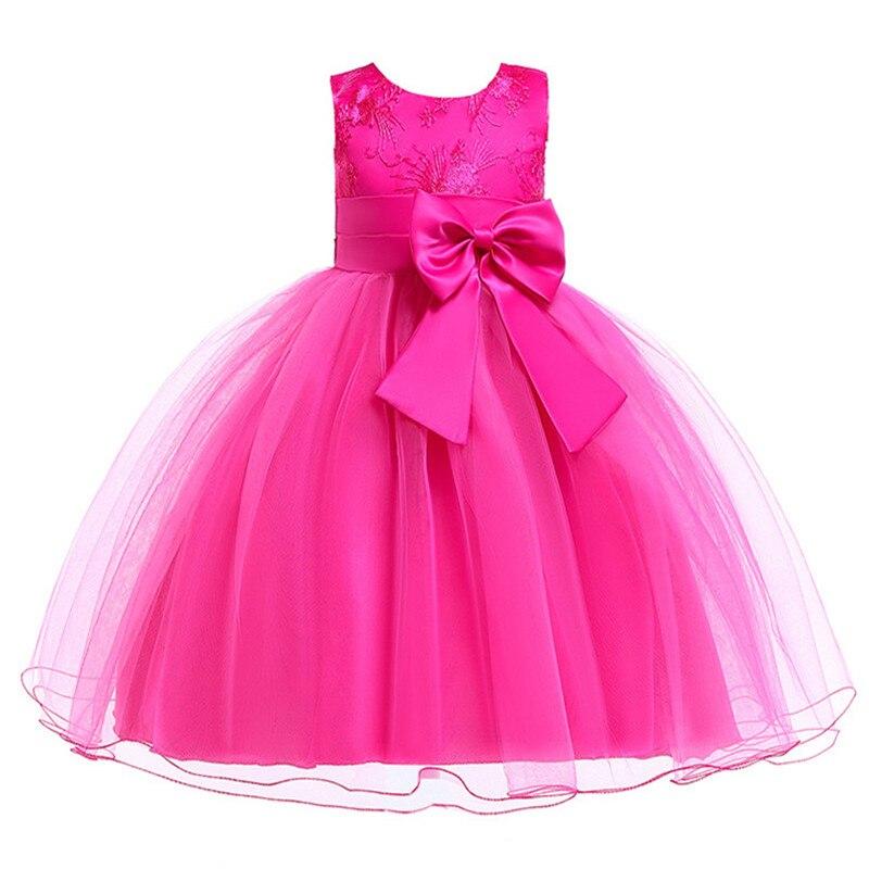 H0e951d7a3a5b4504a57f1ffdc0a581dfo Princess Flower Girl Dress Summer Tutu Wedding Birthday Party Dresses For Girls Children's Costume New Year kids clothes