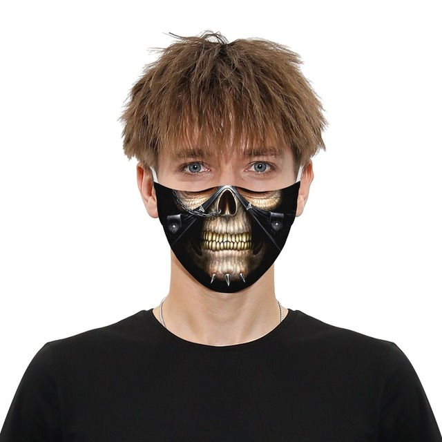 Fashion Hot Sale Adult Children Cartoon Printing Skeleton Joker Protective Mask Filter Chip Dustproof PM2.5 Smog Face Mask Gift 3