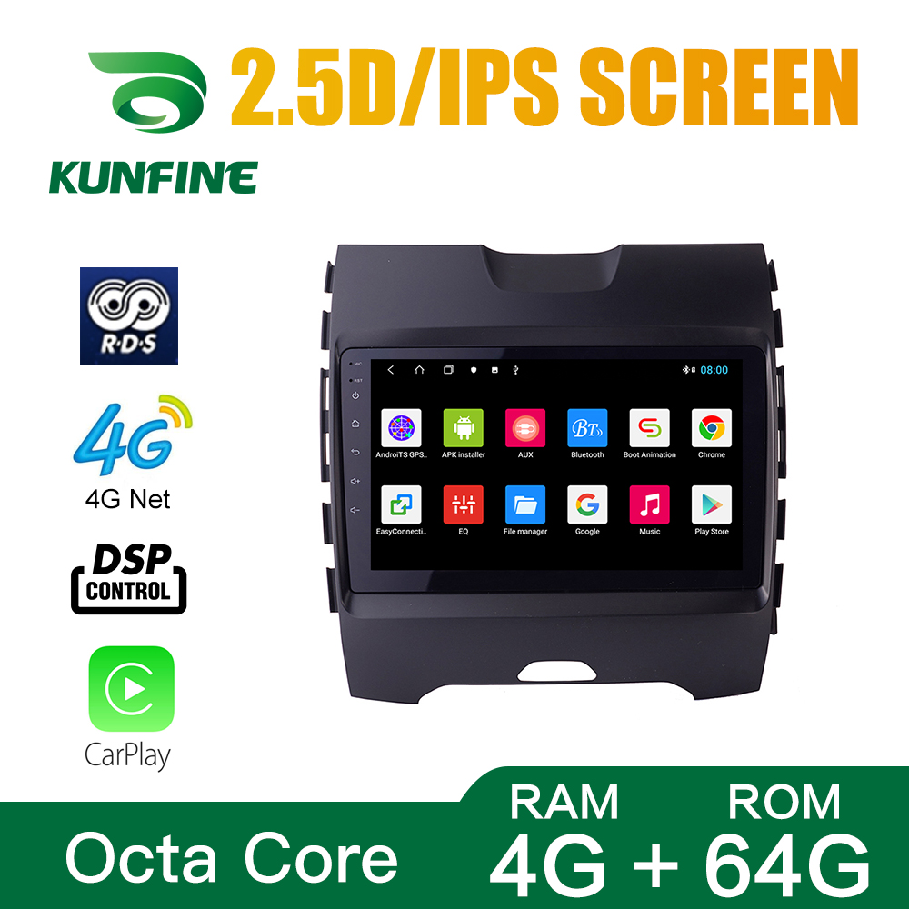 Octa Core Android 8.1 Car DVD GPS Navigation Player Deckless Car Stereo for Ford Edge 2015 2016 2017 2018 Radio Headunit