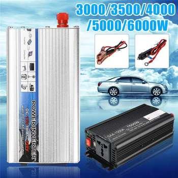 Solar Car Inverter DC12V to AC220V 3000/3500/4000/5000/6000W Max Modified Sine Wave Power Inverter Voltage Transformer Converter 6