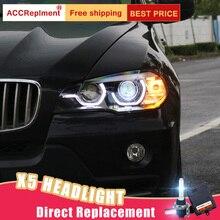 רכב סטיילינג עבור BMW X5 E70 פנסי 2008 2013 חדש E70 LED פנס LED DRL ראש מנורת LED נמוך קרן גבוהה קרן אבזרים