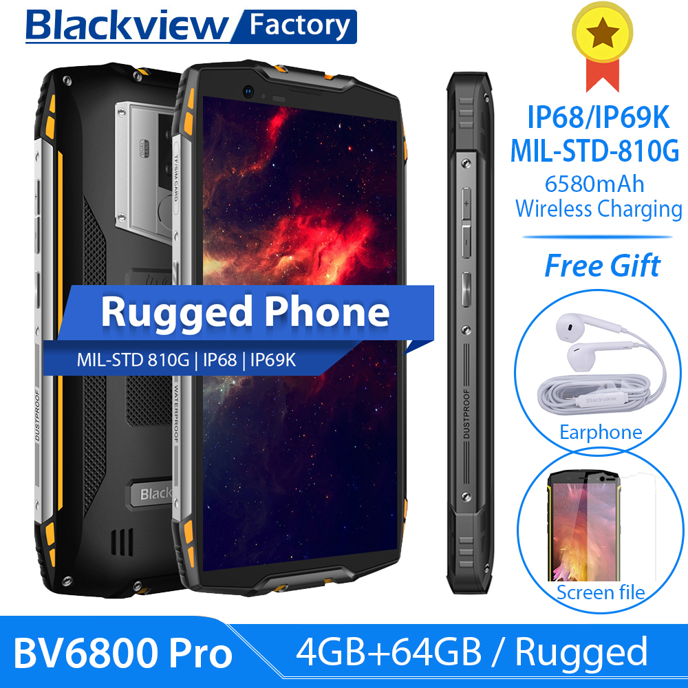 Blackview BV6800 Pro 4GB 64GB Android LTE/GSM/WCDMA NFC Supercharge Octa Core Fingerprint Recognition/face Recognition