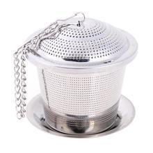 Ситечко для заварки чая из нержавеющей стали, ситечко для чая, травяной фильтр для специй, многоразовая чайная посуда, пряность для чая, чайник, аксессуары