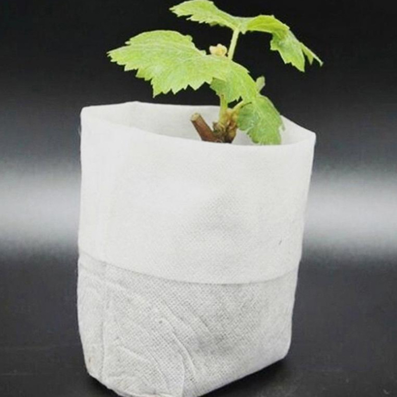 100PCS Biodegradable Non-woven Nursery Bags Plant Grow Bags for Seedling Pots garden tool potato planting grow bag Nursery Pots