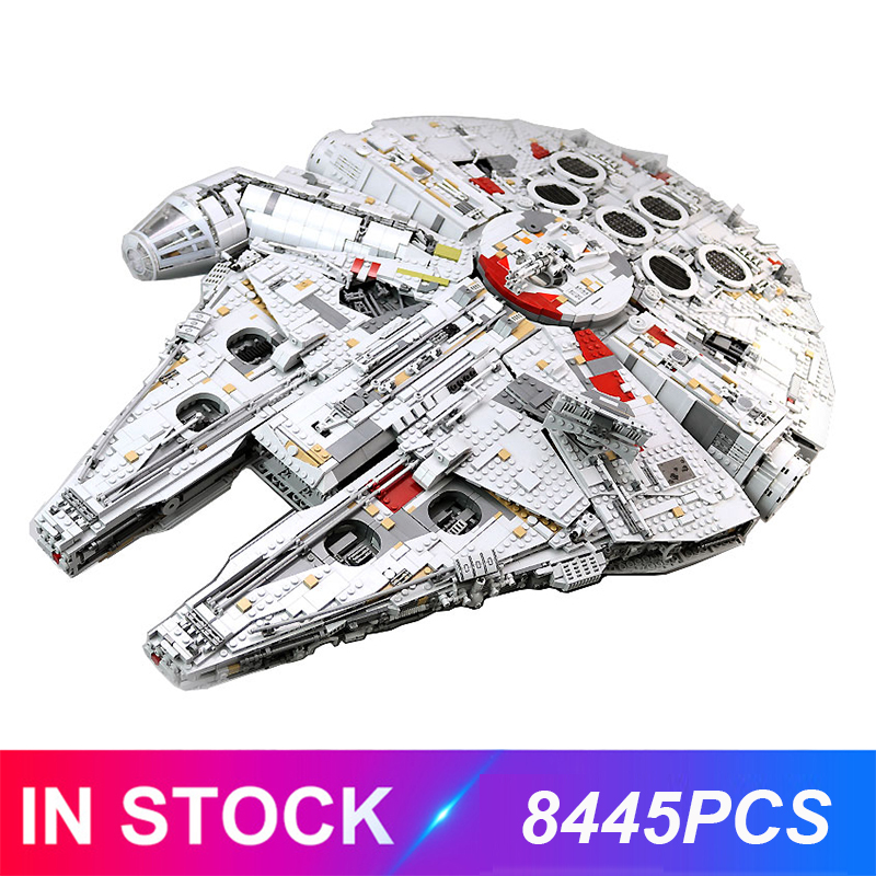 8445Pcs Faclon Compatible Star Plans 05132 75192 Millennium Building Blocks Bricks Educational Toys Birthday Christmas Gfit