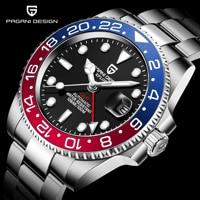 PAGANI DESIGN Brand Men Automatic Watch Waterproof Sports Mechanical Wristwatch reloj hombre Luxury Stainless Steel GMT Watch
