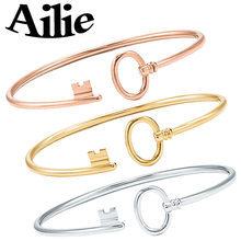 Ailey original high quality 100% 925 sterling silver key bracelet love classic Jane fashion lady jewelry couple gifts
