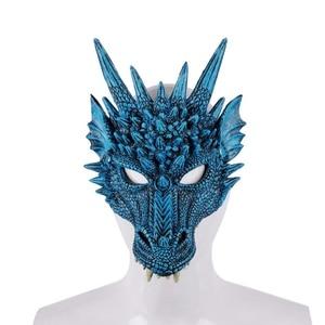 Halloween 4D Dragon Half Face