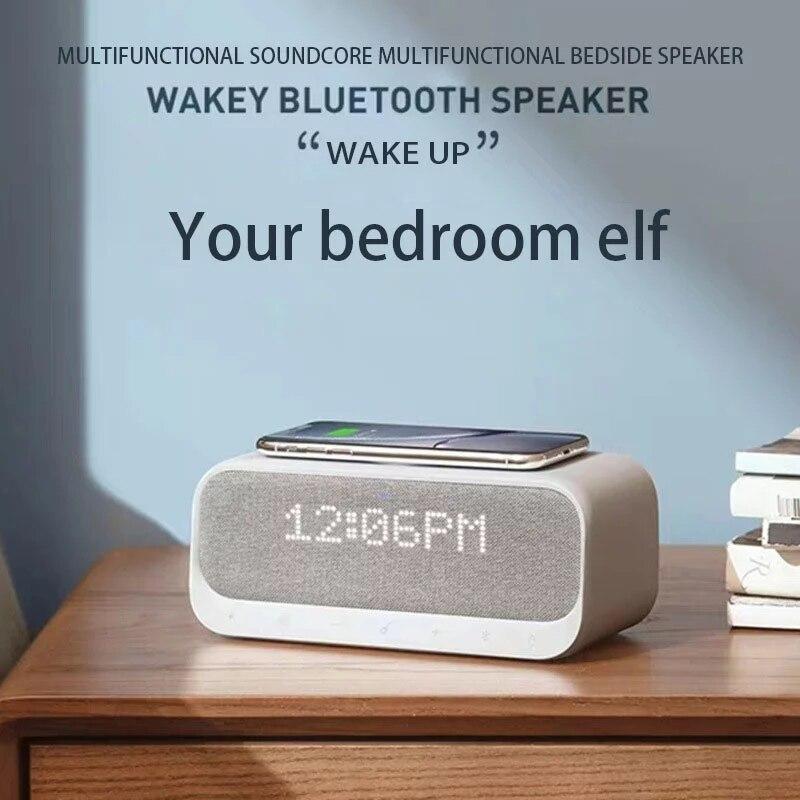 Bluetooth-колонка, сабвуфер, звуковая панель, портативная звуковая колонка, стерео FM-радио, будильник, беспроводное зарядное устройство Qi