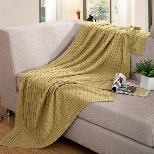 Claroom Sofa Throw Blanket Solid Soft Knitted Blanket For Bed Home Office Nap Cover Blanket 120x180cm 180x200cm XC46#