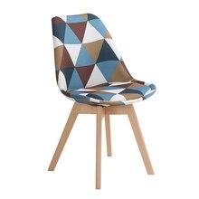 Простой деревянный современный домашний стул для столовой задний офисный стул креативный твердый деревянный Северный стул