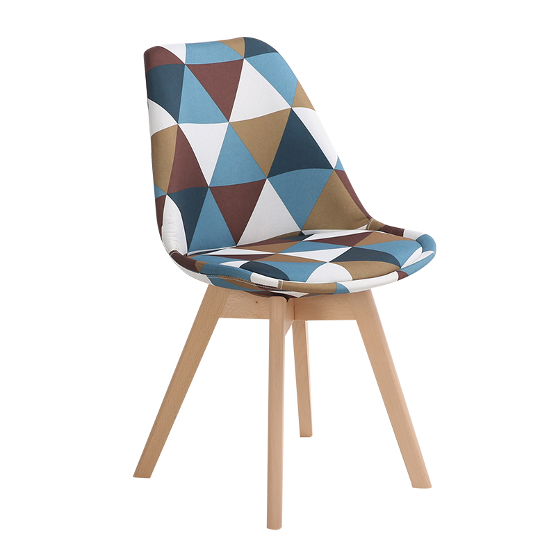 Simple Wooden Modern Home Dining Chair Back Office Chair Creative Solid Wood Nordic Chair