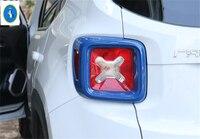 Yimaautotrims Auto Acessório Traseiro Cauda Bagageira Luzes 2 Pcs ABS Protetor Tampa Da Lâmpada Guarnição Fit For Jeep Renegado 2015 - 2020