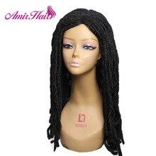 Amir Длинные Синтетические волосы дредлок парик для женщин Faux locs прическа черный смешанный коричневый крючком парики из косичек Термостойкое волокно