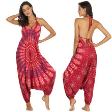 Pakistan Clothing Hippe-Pants India Women Party Jumpsuits Rompers Lantern Bohemian Sexy