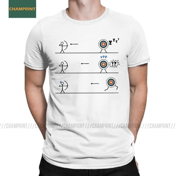 Funny Running Archery Target T-Shirt Men Cotton T Shirt Bow Arrow Japanese Primitive Archer Kyudo Short Sleeve Tees Adult - discount item  40% OFF Tops & Tees