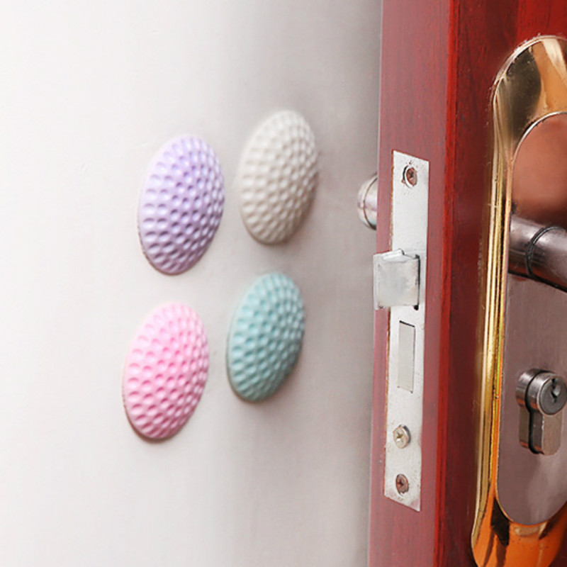 3Pcs/Lot Protection Baby Safety Shock Absorbers Security Card Rubber Door Stoppers Wall Protectors