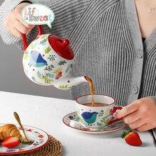 Бытовой керамический чайник, креативный маленький чайник, чашка, портативный кофейник, китайские фарфоровые чашки и кружки