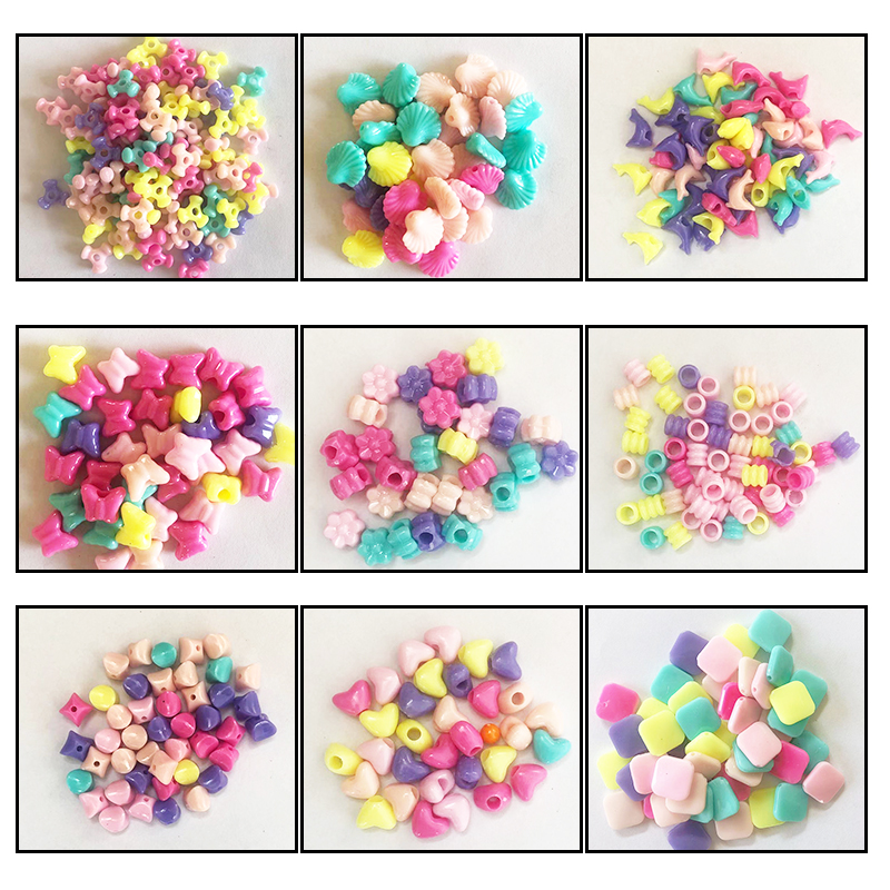 100pcs / Share Beaded Toys, Children's Beaded Toys, Handmade Accessories, Various Modeling Bracelets, Necklaces, DIY Material