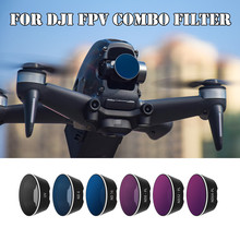 SUNNYLIFE For DJI FPV Combo Filter Drone UV/CPL/NDPL4/8/16/32 Neutral Density Polar Filters Kit Camera Accessories Quadcopter