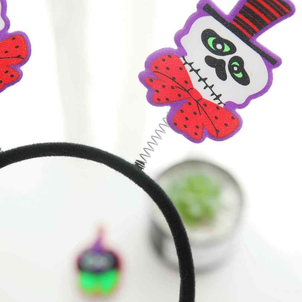 Halloween fiesta calabaza fantasma calabaza cabeza diademas vestido accesorios baile fiesta decoración regalo para niñas niños Q3