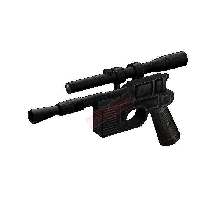 Star Wars 1:1 pistolet à main DL-44 pistolet Blaster 3D papier modèle décoration bricolage décontracté Puzzle papier jouet