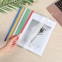 10 шт. A4 прозрачная пластиковая папка для документов, скользящие зажимы для презентаций, обложки для органайзера, папка для школы, офиса, разн...
