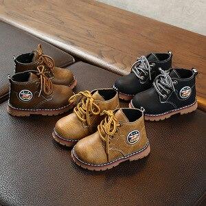 Новые детские ботинки для мальчиков и девочек; Модные популярные стильные зимние Ботинки Martin; Теплая обувь; Детские утепленные Нескользящи...