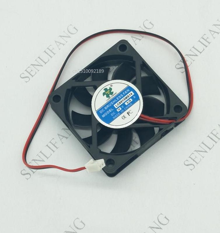 For LC6015MS14 14V 0.15A 6015 6CM 2 Line Power Supply Cooling Fan Free Shipping
