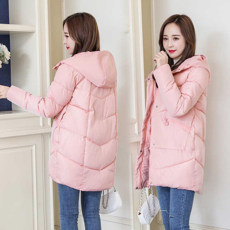 зимняя женская куртка повседневная плотная теплая длинная парка с капюшоном куртки женские на молнии карман тонкий синтепон стеганые зимние пальто
